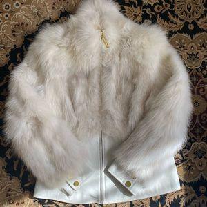 Real Blue Fox Fur Women's Jacket Sz M, Excellent
